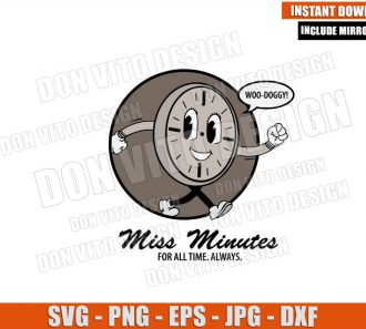Miss Minutes Woo Doggy (SVG dxf png) Old Classic Loki TVA Logo Cut File Cricut Silhouette Vector Clipart - Don Vito Design Store
