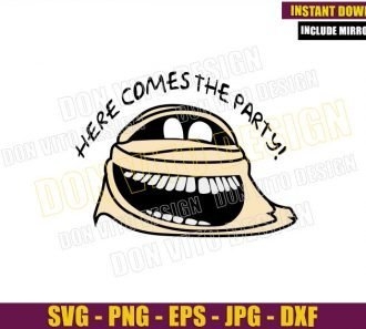 Murray Here comes the Party (SVG dxf png) Mummy Monster Cut File Cricut Silhouette Vector Clipart - Don Vito Design Store