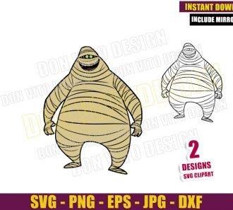 Murray Hotel Transylvania (SVG dxf png) The Mummy Monster Cut File Cricut Silhouette Vector Clipart - Don Vito Design Store