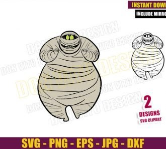 Murray The Mummy (SVG dxf png) Monster Movie Outline Cut File Cricut Silhouette Vector Clipart - Don Vito Design Store