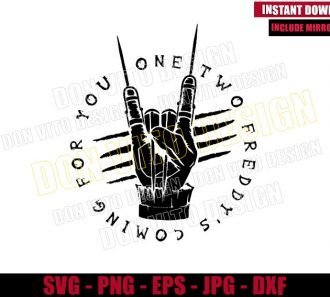 One Two Freddy Glove (SVG dxf png) Krueger Nightmare on Elm St Cut File Cricut Silhouette Vector Clipart - Don Vito Design Store