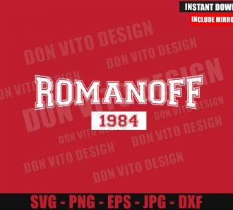 Romanoff 1984 (SVG dxf png) Black Widow Movie Logo Cut File Cricut Silhouette Vector Clipart - Don Vito Design Store