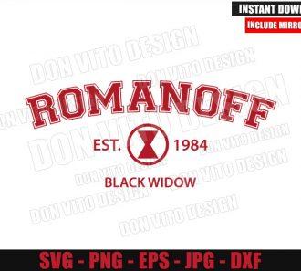 Romanoff Est 1984 Logo (SVG dxf png) Black Widow Movie Cut File Cricut Silhouette Vector Clipart - Don Vito Design Store