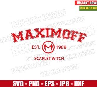 Maximoff Est 1989 Logo (SVG dxf png) Wanda Scarlet Witch Cut File Cricut Silhouette Vector Clipart - Don Vito Design Store