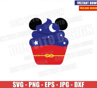 Sorcerer Mickey Mouse Cupcake (SVG dxf png) Disney Dessert Ears Cut File Cricut Silhouette Vector Clipart - Don Vito Design Store