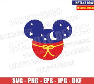 Sorcerer Mickey Mouse Head (SVG dxf png) Disney Magician Cut File Cricut Silhouette Vector Clipart - Don Vito Design Store