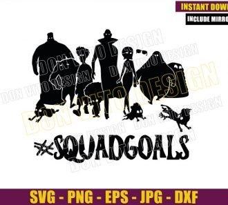 Hotel Transylvania Squadgoals (SVG dxf png) Dracula Mavis Johnny Cut File Cricut Silhouette Vector Clipart - Don Vito Design Store