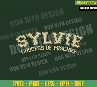 Sylvie Goddess Of Mischief (SVG dxf png) New Loki Variant Cut File Cricut Silhouette Vector Clipart - Don Vito Design Store