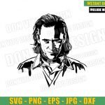 Tom Hiddleston Loki (SVG dxf png) Marvel Tv Show TVA Cut File Cricut Silhouette Vector Clipart T-shirt Design Loki Laufeyson svg