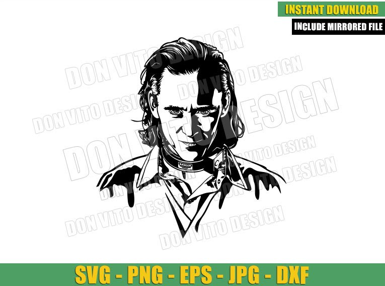 Tom Hiddleston Loki (SVG dxf png) Marvel Tv Show TVA Cut File Cricut Silhouette Vector Clipart - Don Vito Design Store