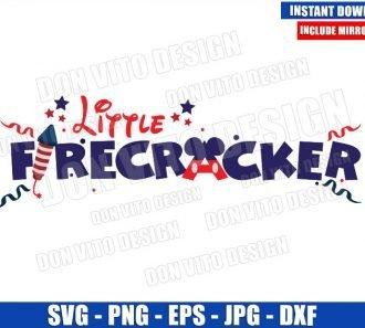 Little Firecracker Mickey Mouse (SVG dxf png) Disney USA Patriotic Cut File Cricut Silhouette Vector Clipart - Don Vito Design Store