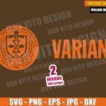 Variant TVA Logo Prisioner (SVG dxf png) Time Variance Authority Badge Cut File Cricut Silhouette Vector Clipart 2 Designs Loki svg