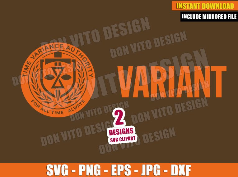Variant TVA Logo Prisioner (SVG dxf png) Time Variance Authority Badge Cut File Cricut Silhouette Vector Clipart - Don Vito Design Store