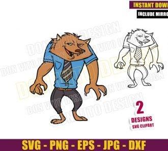 Wayne Hotel Transylvania (SVG dxf png) Werewolf Monster Cut File Cricut Silhouette Vector Clipart - Don Vito Design Store