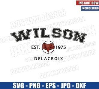 Wilson Est 1975 Delacroix (SVG dxf png) The Falcon Logo Cut File Cricut Silhouette Vector Clipart - Don Vito Design Store