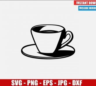 Cup of Coffee SVG Free Cut File for Cricut Silhouette Freebie Drink Clipart Vector PNG Image Download Free SVG Design
