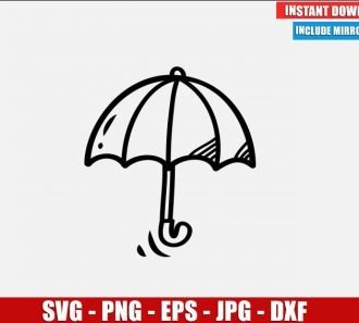 Umbrella SVG Free Cut File for Cricut Silhouette Freebie Parasol Folding Canopy Clipart Vector PNG Image Download