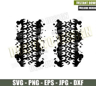 4x4 Double Mud Tires (SVG dxf png) Vehicle Off Road Mud Splatter Cut File Cricut Silhouette Vector Clipart - Don Vito Design Store