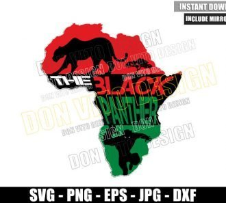 Africa Map Black Panther (SVG dxf png) Wakanda T'Challa Superhero Cut File Cricut Silhouette Vector Clipart - Don Vito Design Store