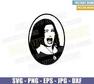 Agnes Harkness Winking (SVG dxf png) WandaVision Witch Cut File Cricut Silhouette Vector Clipart - Don Vito Design Store