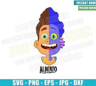 Alberto Head Half Sea Monster Half Human (SVG dxf png) Disney Movie Cut File Cricut Silhouette Vector Clipart - Don Vito Design Store