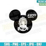 Alberto Head Mickey Ears (SVG dxf png) Disney Sea Monster Face Cut File Cricut Silhouette Vector Clipart T-Shirt Design Luca Movie svg