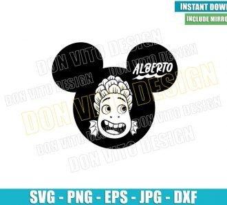Alberto Head Mickey Ears (SVG dxf png) Disney Sea Monster Face Cut File Cricut Silhouette Vector Clipart - Don Vito Design Store