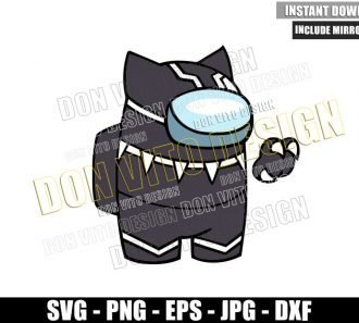 Among Us Black Panther (SVG dxf png) Wakanda Superhero Impostor Cut File Cricut Silhouette Vector Clipart - Don Vito Design Store