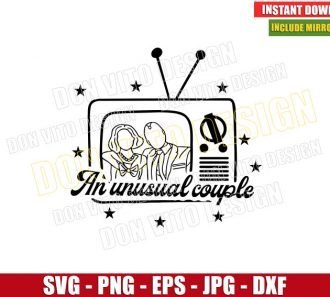 An Unusual Couple Tv Outline (SVG dxf png) Wanda Maximoff Vision Cut File Cricut Silhouette Vector Clipart - Don Vito Design Store
