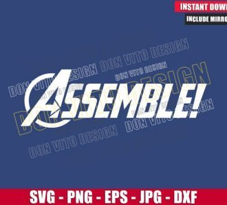 Assemble Avengers Logo (SVG dxf png) Captain America Superhero Cut File Cricut Silhouette Vector - Don Vito Design Store