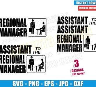 Regional Manager Bundle (SVG dxf png) The Office Assistant to the Assistant Cut File Cricut Silhouette Vector Clipart