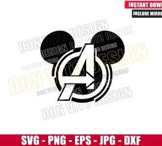 Avengers Logo Mickey Head (SVG dxf png) Disney Mouse Superhero Cut File Cricut Silhouette Vector - Don Vito Design Store