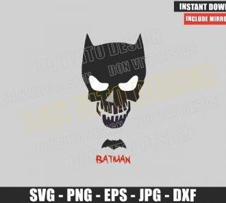 Batman Suicide Squad Logo (SVG dxf png) Skull Head Mask Dc Comics Cut File Cricut Silhouette Vector Clipart - Don Vito Design Store