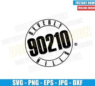 Beverly Hills 90210 (SVG dxf png) Tv Series Logo Cut File Cricut Silhouette Vector Clipart - Don Vito Design Store