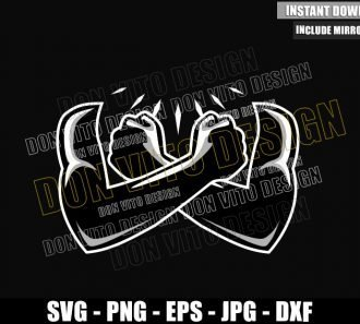 Black Panther Arm Cross (SVG dxf png) Wakanda Forever T'Challa Cut File Cricut Silhouette Vector Clipart - Don Vito Design Store