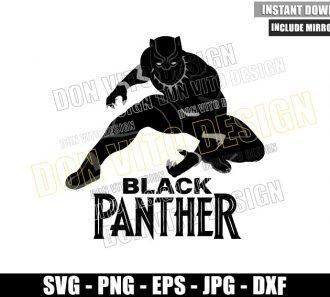 Black Panther Avengers Superhero (SVG dxf png) Wakanda T'Challa Cut File Cricut Silhouette Vector Clipart - Don Vito Design Store