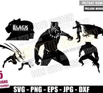 Black Panther Bundle (SVG dxf png) T'Challa Wakanda Superhero Cut File Cricut Silhouette Vector Clipart - Don Vito Design Store