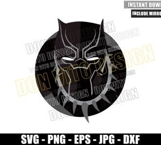 Black Panther TChalla Head (SVG dxf png) Wakanda King Cut File Cricut Silhouette Vector Clipart - Don Vito Design Store