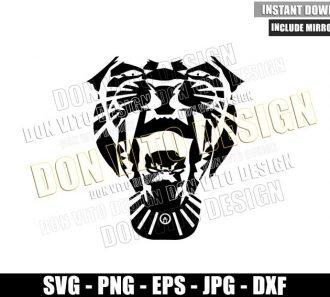 Black Panther Roar Head (SVG dxf png) Wakanda Superhero Cut File Cricut Silhouette Vector Clipart - Don Vito Design Store