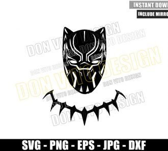 Black Panther Head Necklace (SVG dxf png) Marvel Movie Wakanda Cut File Cricut Silhouette Vector Clipart - Don Vito Design Store