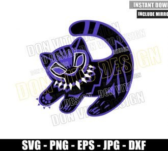 Simba Black Panther Logo (SVG dxf png) Lion King Disney Movie Cut File Cricut Silhouette Vector Clipart - Don Vito Design Store