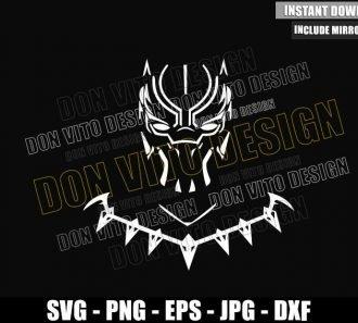 Black Panther Wakanda Necklace (SVG dxf png) Marvel Superhero Cut File Cricut Silhouette Vector Clipart - Don Vito Design Store
