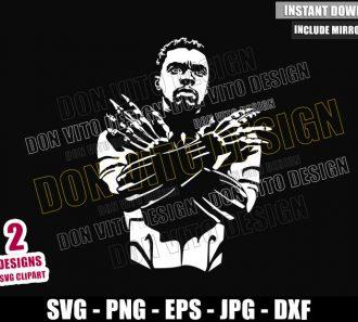 Chadwick Boseman Black Panther (SVG dxf png) Wakanda Forever Cut File Cricut Silhouette Vector Clipart - Don Vito Design Store