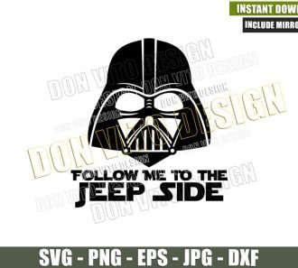 Follow me to the Jeep Side (SVG dxf png) Star Wars Darth Vader 4×4 Vehicle Cut File Cricut Silhouette Vector Clipart - Don Vito Design Store