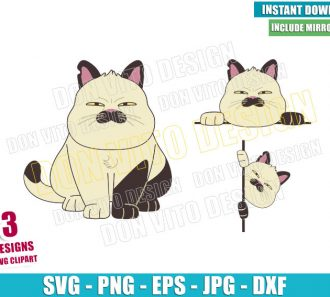 Funniest Cat Machiavelli Bundle (SVG dxf png) Disney Luca Cut File Cricut Silhouette Vector Clipart - Don Vito Design Store
