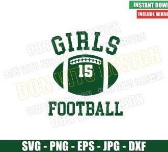 Girls Football Rachel Green (SVG dxf png) American Football Ball 15 Cut File Cricut Silhouette Vector Clipart - Don Vito Design Store