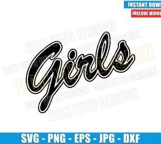 Girls Friends Logo (SVG dxf png) Rachel Green T-Shirt Cut File Cricut Silhouette Vector Clipart - Don Vito Design Store
