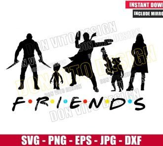 Guardians Of The Galaxy Friends (SVG dxf png) Star Lord Groot Gamora Drax Cut File Cricut Silhouette Vector Clipart - Don Vito Design Store