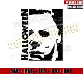 Halloween Michael Myers (SVG dxf png) Serial Killer Face Mask Cut File Cricut Silhouette Vector Clipart - Don Vito Design Store