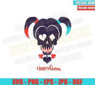 Harley Quinn Suicide Squad Logo (SVG dxf png) Skull Dc Comics Cut File Cricut Silhouette Vector Clipart - Don Vito Design Store